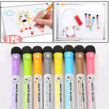 1xMagnetic White Board Marker Pens With Dry Erase Eraser Office School Supplies