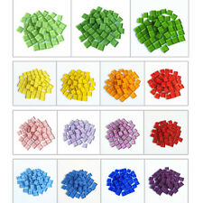 100g Mixed Colour Stained Glass Mosaic Tiles - 1cm X 1cm Tile , DIY Crafts