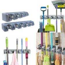 Mop and Broom Holder Wall Mount Broom Organizer Cleaning Hooks Hanger Tool