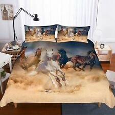 3D Animal Horse Print Duvet Cover Set Bedding Set Quilt Cover Pillowcase