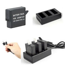1220mAH Battery /Triple Charger for GoPro AHDBT-701 Gopro7 GoPro Hero 7 HD Black