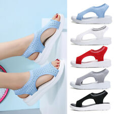Fashion Women Hollow-Out Mesh Slingback Sandals Peep Toe Wedge Casual Shoes Size