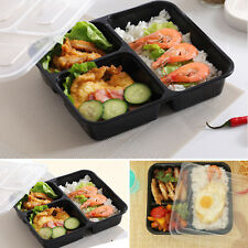 10pcs Meal Food Prep Containers Storage BPA Lunch Box Plastic Compartment & Lids