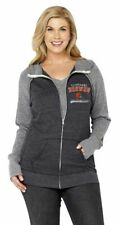 NFL Cleveland Browns Womens Curvy Triblend Color Full Zip Hoodie Plus Sizes