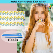 36pcs Water Wave Magic Curlers Formers Leverage Spiral Hairdressing Tool 45-50cm