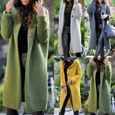 Plus Size Womens Long Sleeve Knitted Cardigan Sweater Casual Outwear Coat Jacket