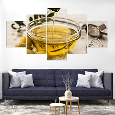 Olive Oil Canvas Print Painting Framed Home Decor Wall Art Picture Poster Pic