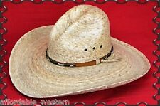COWBOY HAT- Western PALM LEAF - Crushable Straw -GUS