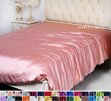 1 PC 16MM 100% PURE SILK SATIN DUVET COMFORTER QUILT COVER ALL SIZE 30 COLORS