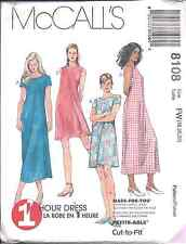 8108 UNCUT McCalls Pattern Misses Pullover Dress SEWING OOP FF Spring Summer SEW