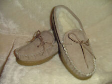 Ladies Chestnut Sheepskin Moccasin, Loafer Style