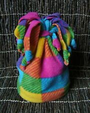 Childrens Hand Knotted Fleece Hat/Scarf Made in London!