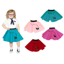 1950s Toddler Girls 1/2/3 Poodle Skirt (Grease Halloween Dance Costume 1960s)