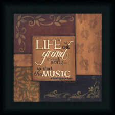 Life Is One Grand Sweet Song by Tonya Crawford 12x12 Framed Art Print Picture