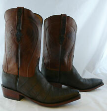 Lucchese Cowboy Boot Chocolate Belly Crocodile GA9045