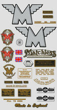 1953-55: Matchless Twin -RESTORERS DECAL SET- G9 Decals