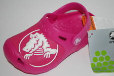 NEW NWT CROCS KIDS GABE 12/13 1 2 junior FUCHSIA PINK shoes sandals