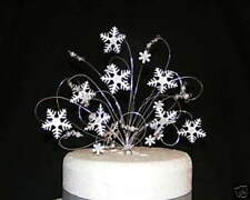 Snowflake Winter Wedding Cake Topper Decoration