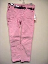 Old Navy pink corduroy pants girls 6 7 12 NEW