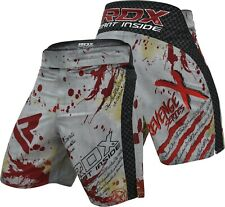 RDX Blood MMA Shorts Grappling UFC Kick Boxing Mens Muay Thai Cage Fight Trunks