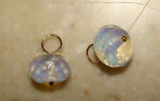 Opalite Roundelle INTERCHANGEABLE Earring Charms YG SS