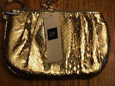 "GIRLS GAP GLITTER PURSE 5"" W/ZIPPER & KEY RING NWT NEW"