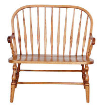 Amish Bent Feather Solid Wood Bench