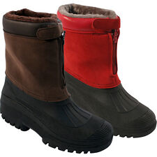 MENS LADIES SNOW BOOTS WATERPROOF THERMAL WELLINGTONS WINTER FUR SKI WELLIES