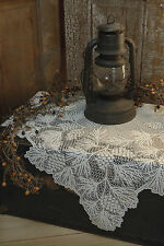 """Heritage Lace Woodland Table Topper 36"""" x 36"""" Square Ecru/White"""