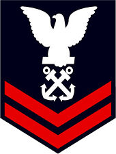 STICKER RANK U S NAVY E5 PETTY OFFICER