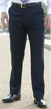 """BNWT MENS 33"""" LONG LEG NAVY BLUE POLYESTER TROUSERS FORMAL CASUAL SMART 30""""-48"""""""