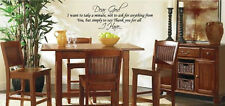Dear god I want to take a minute Vinyl Wall Art Words Decals Stickers Decor Art