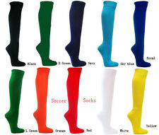Soccer socks classic solid color for adults nylon + spandex moisture management