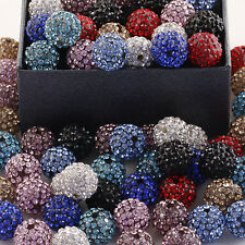Wholesale Charming Mix-Color Crystal Resin Disco Ball Bead Fit European Bracelet