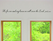 As for me and my house we will serve the lord  Vinyl Wall Art  Decals Stickers