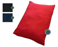 Large Fleecy Fleece Pet Bed Dog Cushion Zipped Removable Cover 95 x 65 cm