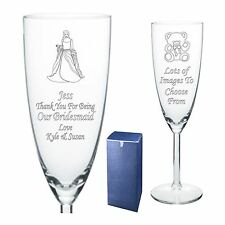 Engraved Champagne Flute Bridesmaid -  Chief Bridesmaid Gift - Present