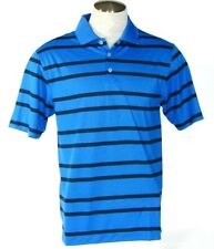 Nike Golf Dri Fit Short Sleeve Blue Stripe Polo Shirt Mens NWT