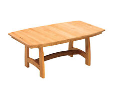Amish Dining Room Table Trestle Mission Solid Wood Furniture Boat Top Rectangle