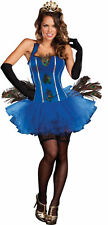 ROYAL PEACOCK ADULT WOMENS COSTUME Corset Sexy Feathers Tiara Party Halloween