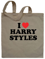 I Love Harry Styles Tote Bag Shopper - Can Print Any Name Words Personalised