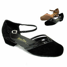 Women's Ballroom Salsa Latin Tango Low Heel Dance Shoes 8881 Very Fine Shoes 1""