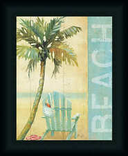 Ocean Beach I by Daphne Brissonnet Tropical Sign 11x14 Framed Art Print Picture