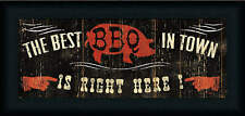 The Best BBQ in Town Pela Studio Country Rustic Sign Framed Art Print Wall