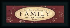 Treasure Is Family Inspirational Sign Framed Art Print Wall Décor Picture
