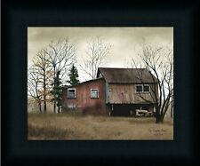 Tractor Barn by Billy Jacob Old Red Barn Country Framed Art Print Décor 8x10