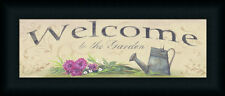 Welcome to the Garden by Pam Britton Country Sign Framed Art Print 18x6 Framed