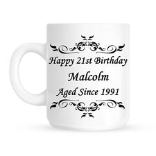 Personalised Name Aged Since Happy Birthday Ceramic Mug | Cup