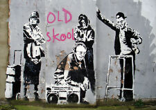 Poster Print: Banksy: Old Skool A3 / A4