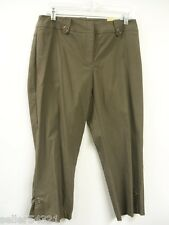 Tribal Stretch Comfort Waist Line Capris/Cropped Pants Color Olive Green Size 8